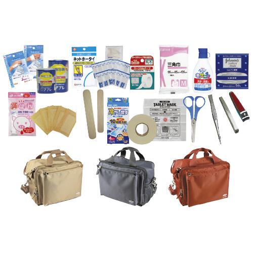三和製作所 3WAY救急バッグセット  規格:スタンダードパック カラー:ブルーグレー