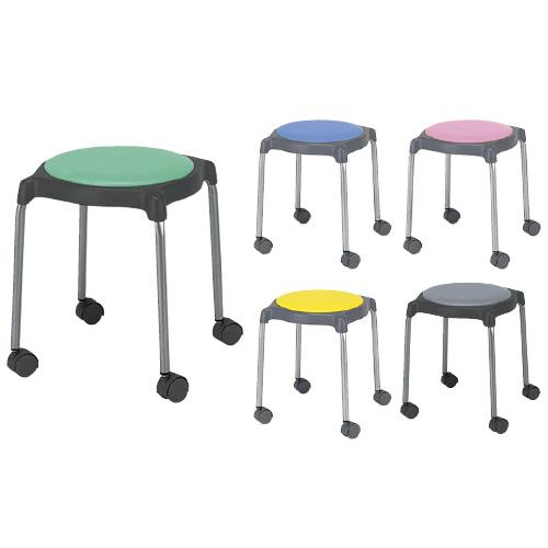 ニシキ工業 丸椅子 CUPPO-CC カラー:ピンク