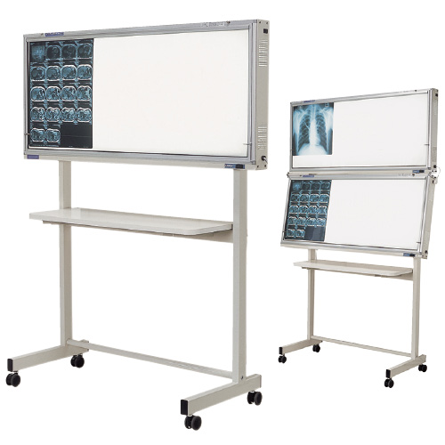 オリオン電機 インバーター式シャウカステン 架台付型2段 ORS-H421Y-F 規格:半切判8枚掛(4枚2段)
