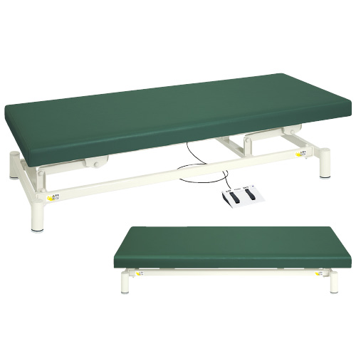 高田ベッド製作所 電動診察台(低床タイプ) TB-1151 カラー:メディグリーン サイズ:W600×L1800×H350~730