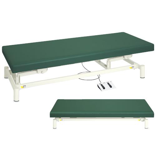 高田ベッド製作所 電動診察台(低床タイプ) TB-1151 カラー:ライムグリーン サイズ:W650×L1800×H350~730