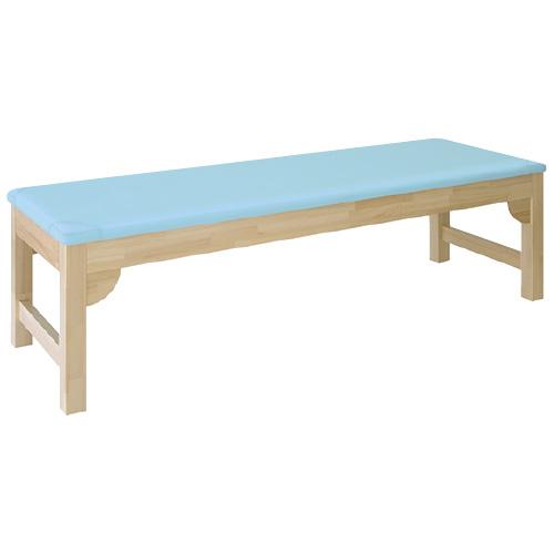 高田ベッド製作所 木製診察台 TB-743 カラー:ライトブルー サイズ:W700×L1900×H500
