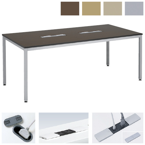 ケルン スクエアテーブル KT-361 天板カラー:ライトグレー サイズ:W1800×D1200×H700