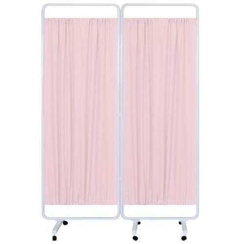 高田ベッド製作所 マイスコ衝立(組合せ) MY-TP66H カラー:ピンク サイズ(本体):W1200×H1800