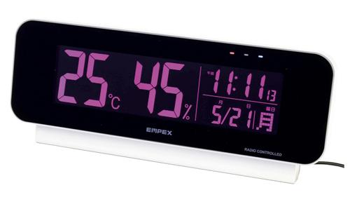 エンペックス気象計 電波時計付デジタル温湿度計 TD-8262