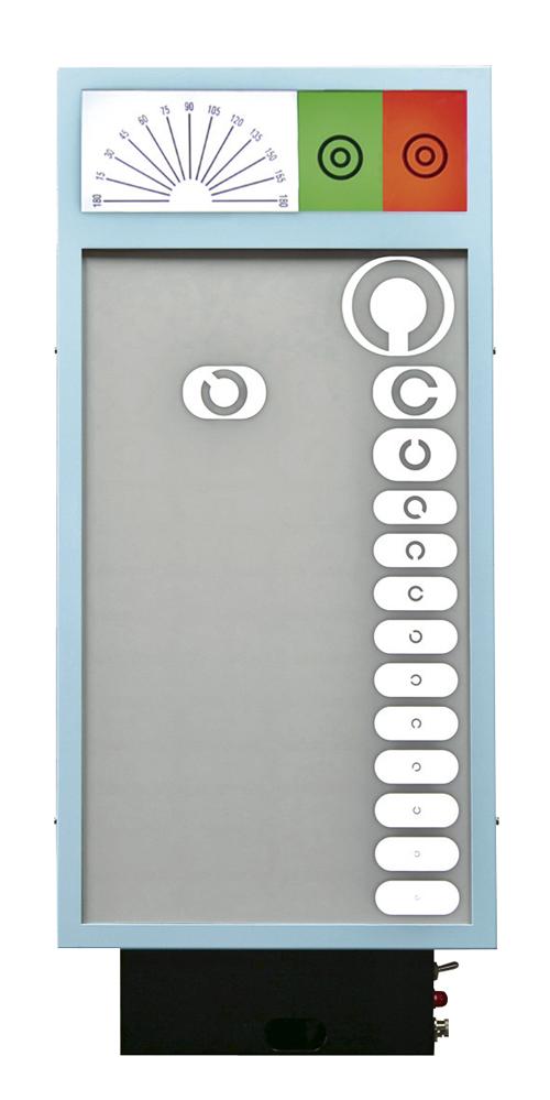 新和精工 LED式視力検査器(壁掛式・3m用) RC-1500B-3N(4ホウコウ) 【大型商品メーカー直送 代引不可】