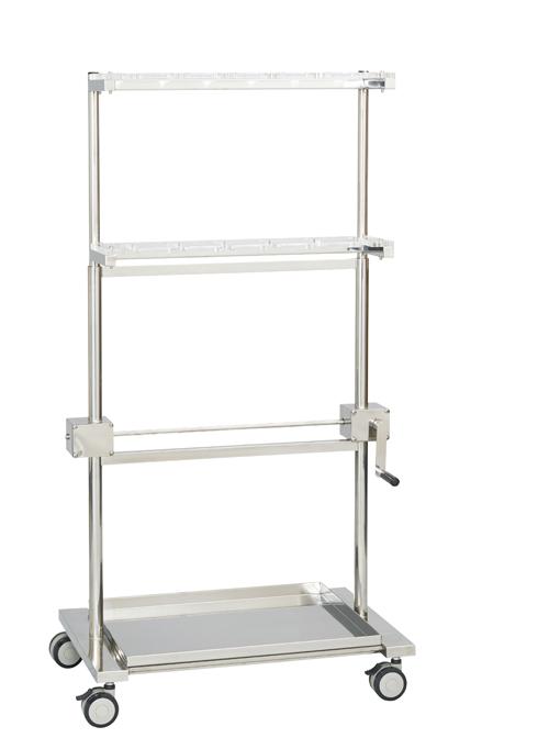 松吉医科器械 昇降式ファイバースコープスタンド FS-306T(6ホンガケ) 【大型商品メーカー直送 代引不可】