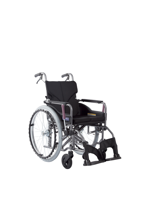 カワムラサイクル 車いす モダン Aスタイル KMD-A16-42-M 黒メッシュ68 【大型商品メーカー直送 代引不可】