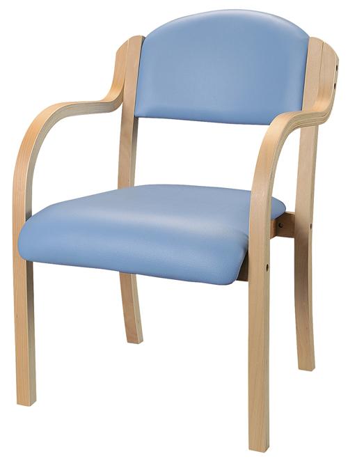 井上金庫販売 木製チェア IKD-01 VBL(ブルー)