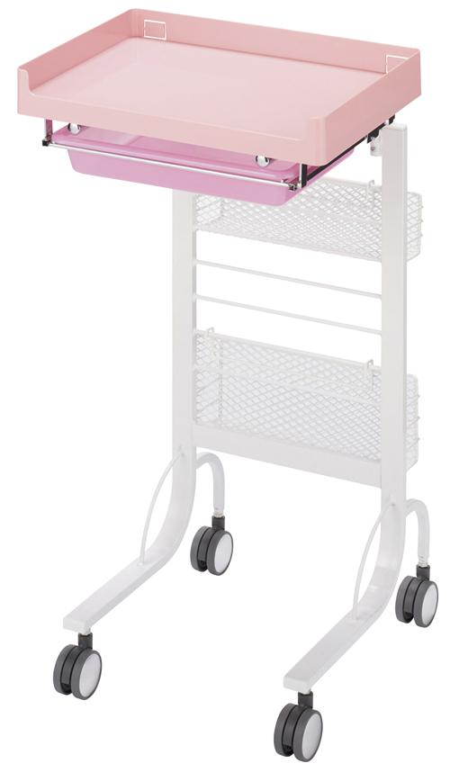 松吉医科器械 アプリワゴン スタッキングタイプ SN-AP015P(ピンク) 【大型商品メーカー直送 代引不可】