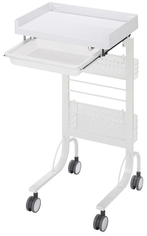 松吉医科器械 アプリワゴン スタッキングタイプ SN-AP015W(ホワイト) 【大型商品メーカー直送 代引不可】