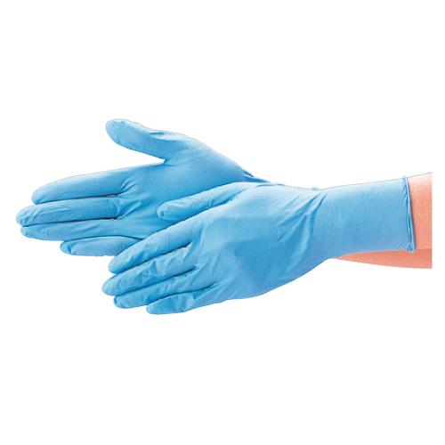 【送料無料】<ロット>ニトリル極薄手袋 パウダーフリー S ブルー100枚 ×20個 No.520