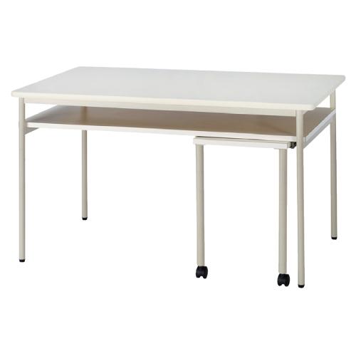 【送料無料】【無料健康相談 対象製品】ナーステーブル(補助テーブル付) アイボリー W1500×D900×H900mm NHJ-1590