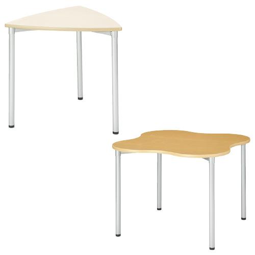 【送料無料】ナーステーブル(変形型)  PCC-1212Q(120X120X90 木目