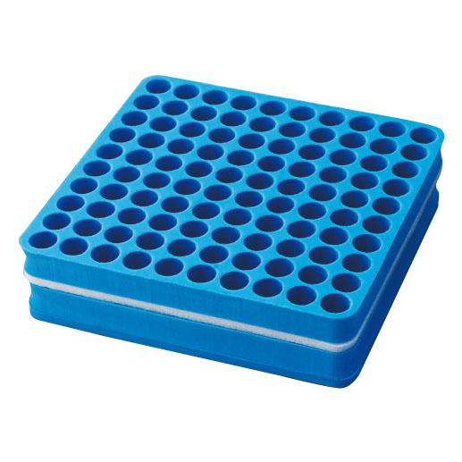 <ロット>発泡試験管立   規格:100本立サイズ:W196×D207×H50mm 5個