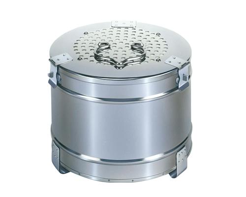 【感謝価格】フィルター式丸型ガーゼ缶 直径18×12cm 医療用ステンレス器具