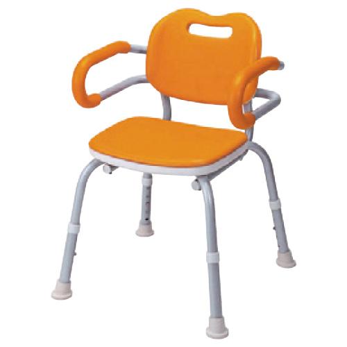 【送料無料】シャワーチェアーひじ掛け付  VALSYK02OR 規格:角型カラー:オレンジ
