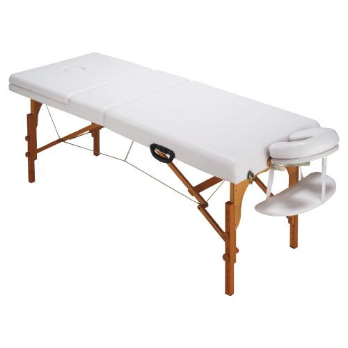 【送料無料】木製折りたたみ診察台  SN-B003 サイズ:W700×L1830×H530?775mm