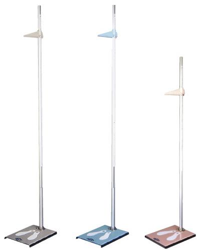 【送料無料】【無料健康相談付】カラー身長計 アイボリー 2.0m左右両目盛 HP