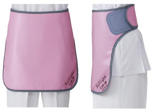 【送料無料】放射線防護用生殖腺防護具ワイドマジックベルト式スカート ソフライト(含鉛)  SLSM-35S ピンク S