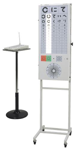 【送料無料】【無料健康相談 対象製品】リモコン視力表  5m用ランドルト(2列)/ひらがな(3列) M-500-A【02P06Aug16】