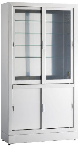 【送料無料】【無料健康相談 対象製品】器械戸棚  W1200×D450×H1700mm KS-1212NG