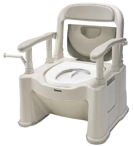 【送料無料】【専門家による1年間の無料介護相談付】ポータブルトイレ 座楽 背もたれ型SP  ソフト便座 VALSPTSPS【02P06Aug16】