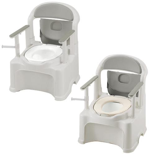 【送料無料】【専門家による1年間の無料介護相談付】ポータブルトイレ きらく P2シリーズ  やわらか便座 PY2型