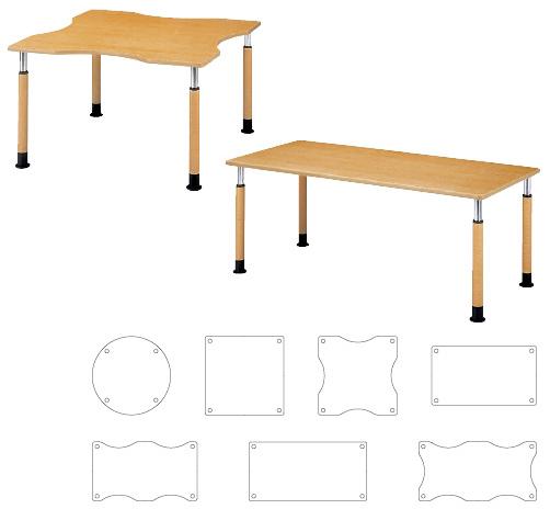 【送料無料】【無料健康相談 対象製品】昇降式テーブル  W1600×D900×H600~800mm FPS-1690Q【02P06Aug16】
