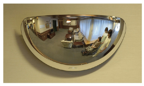 【送料無料】【無料健康相談 対象製品】安全ミラー ラミ  W480×H247mm L5