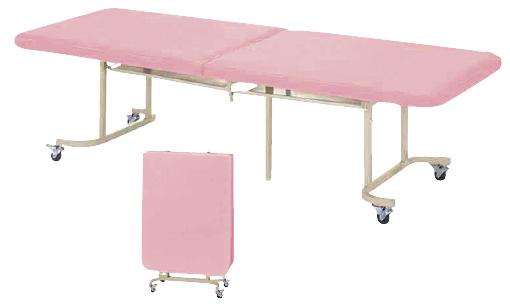 【送料無料】【無料健康相談付】二つ折診察台 ネイビーブルー W600×L1800×H600mm QM-1860H