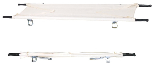 【送料無料】二ツ折担架(固定式)   規格:アルミ重量:約5.6kg※個人宅配送及び代金引換不可※