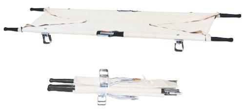 【送料無料】四ツ折担架(固定式)   規格:アルミ重量:約6.5kg