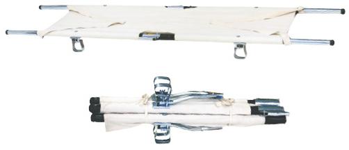 【送料無料】四ツ折担架(伸縮式)   規格:スチール重量:約9.0kg【02P06Aug16】
