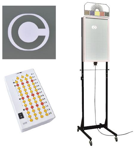 【送料無料】LED式視力検査器(スタンド式)  SK-90A-5P 規格:幼児用(5mのみ)
