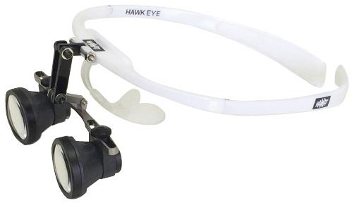 【送料無料】ハマットホークアイ手術用双眼ルーペ  HAHE3048 規格:3.0倍・焦点480mm重量:87g フレームカラー:ホワイト