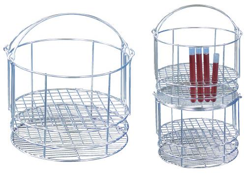 三和化研工業 丸型試験管立(ダーラム試験用)  規格:φ18用×97本立 サイズ:φ295×210