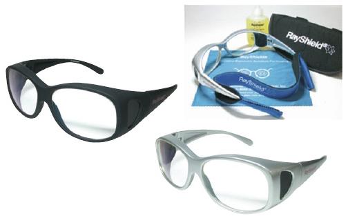 ミハマメディカル X線防護眼鏡 フィットオーバー LG-N192 カラー:シルバー