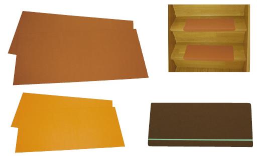 ウィズ 階段用すべり止めシート  カラー:ブラウン 入数:10枚