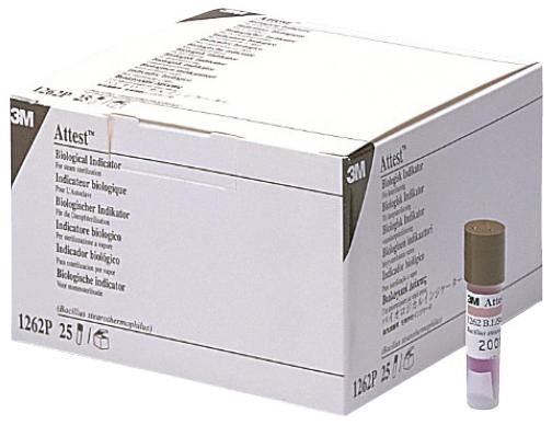 スリーエムジャパンヘルスケアカンパニー アテスト 生物学的インジケータ(高圧蒸気滅菌用) 1262 入数:100本