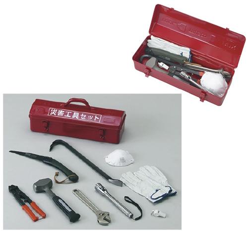 トラスコ中山 災害工具セット TRC-C-SET サイズ:W460×D161×H177.5
