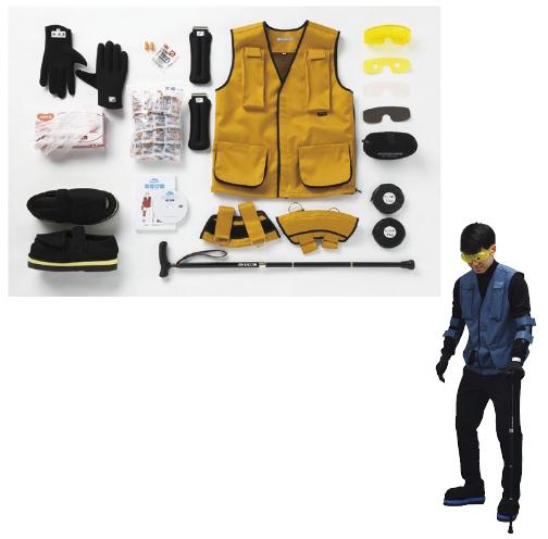 特殊衣料 疑似体験セット まなび体(高齢者用ver.2) 3130 規格:M カラー:イエロー