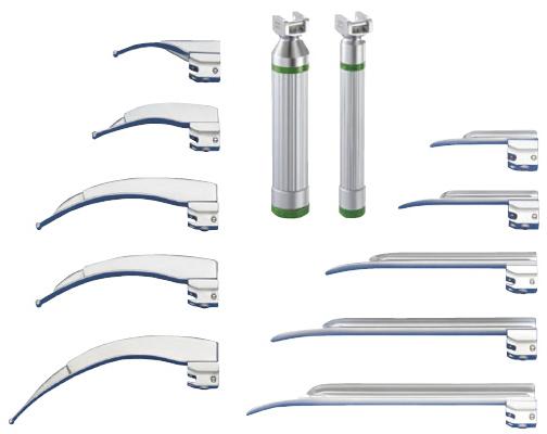 メディックスジャパン ファイバー式喉頭鏡 45.15.64 マッキントッシュ型ブレード 規格:4 サイズ(ブレード長):130