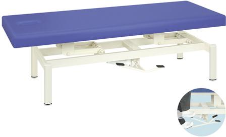 【高田ベッド製作所】油圧式ハイロー診察台 TB-1334(65X180X45-83 ビニルレザー白