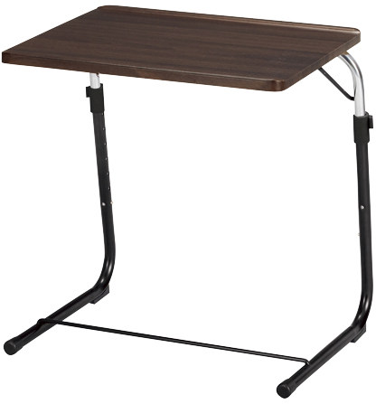 折りたたみサイドテーブル FST(ブラウン)
