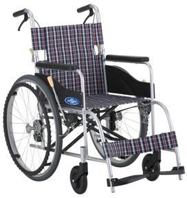 【日進医療器】車いす(自走)背折れ・ワンストップ付 NEO-1+OSB(400MM)