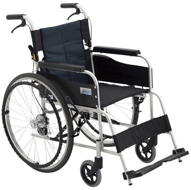 【ミキ】車いす(自走・アルミ)背折れ USG-1(400MM)