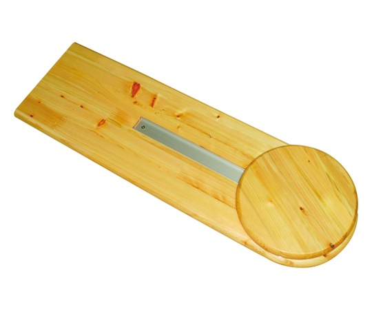 檜バスボード 回転座+スライドボード キリバスボード