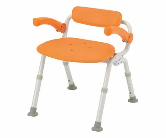 ユクリア シャワーチェアーミドルSP腰当付折り PN-L42021D(オレンジ)