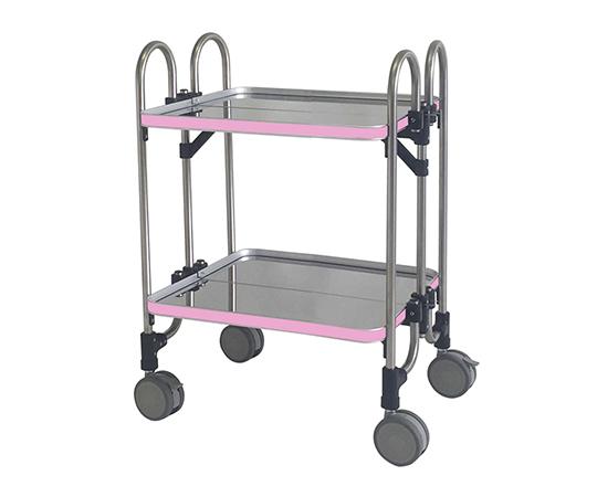 折りたたみ式器械台(2段) HEA-2P(ピンク)